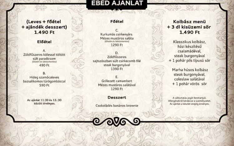 Bazár Pécs Márton napi menü